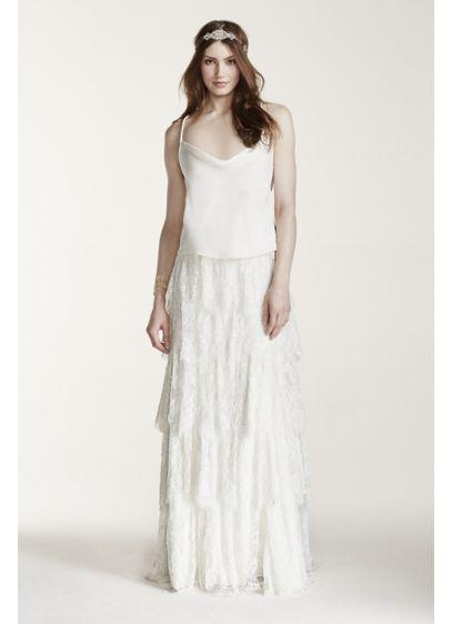 Long Sheath Vintage Wedding Dress - Melissa Sweet