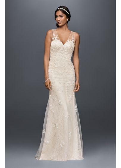 Long Sheath Beach Wedding Dress - Melissa Sweet