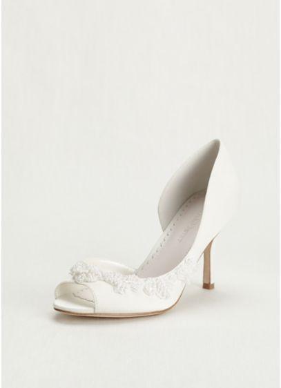 Melissa Sweet Ivory (Half Dorsay Peep Toe Heel)