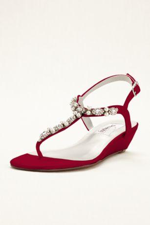 Myra Dyeable Low Wedge Thong Sandal