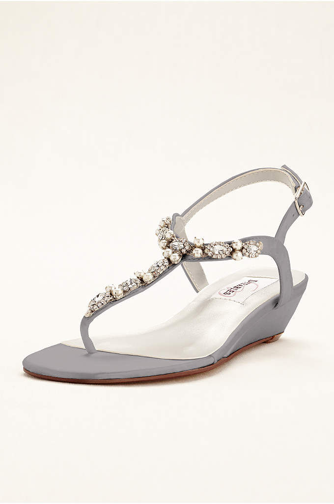 Myra Dyeable Low Wedge Thong Sandal - These gorgeous dyeable low wedge thong sandals transition