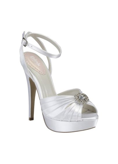Pink Paradox London Pleated Platform Sandal - Wedding Accessories