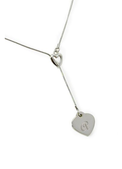 Personalized Double Heart Lariat Necklace - Wedding Gifts & Decorations