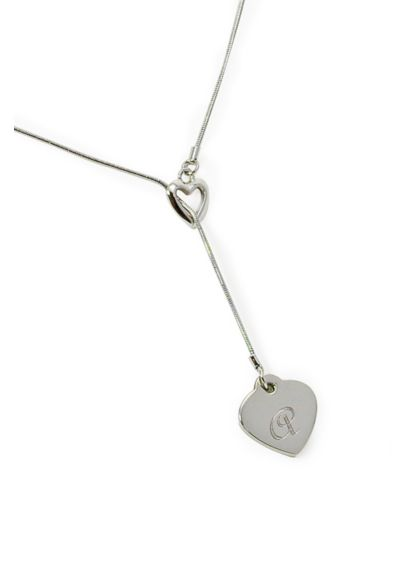 Personalized Double Heart Lariat Necklace N1027S