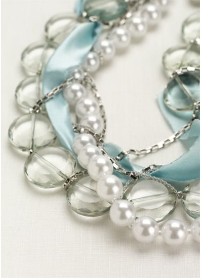 Beaded Silk Wrapped Necklace - Wedding Accessories