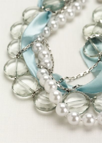 Beaded Silk Wrapped Necklace N1954