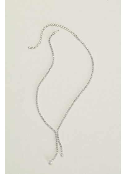 Crystal Lariat Necklace - Wedding Accessories