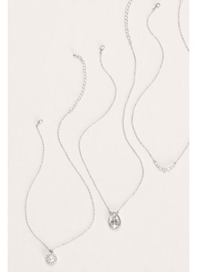 Pearl and Crystal Necklace Set - Wedding Accessories