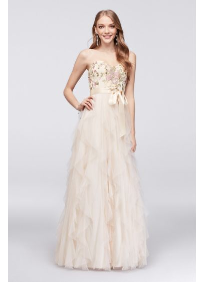 Long A-Line Strapless Formal Dresses Dress - Teeze Me