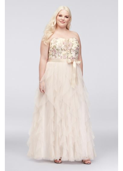 Long A-Line Strapless Formal Dresses Dress - Choon