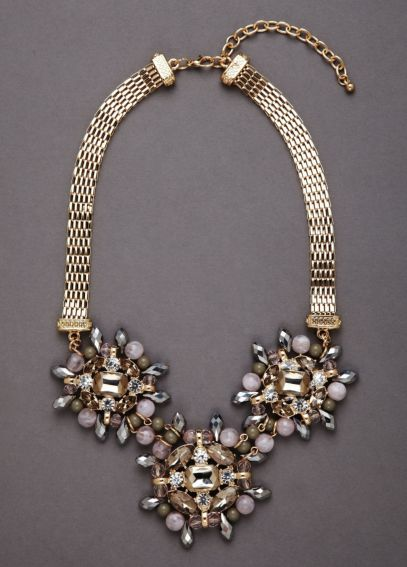 Triple Beaded Rhinestone Necklace N3886