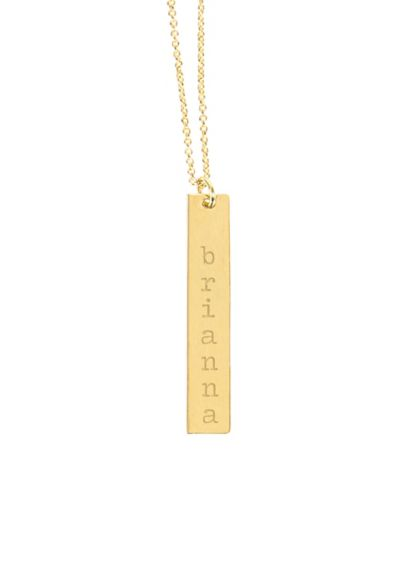 Personalized Vertical Bar Necklace N9106