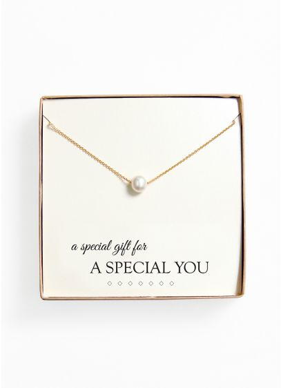Personalized Floating Pearl Necklace - Wedding Gifts & Decorations