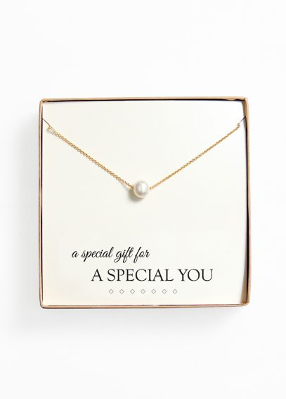 Personalized Floating Pearl Necklace N9108