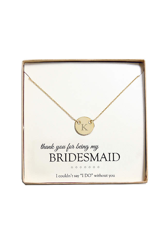 Personalized Medallion Necklace - Classic and simple, our Personalized Medallion Necklace is