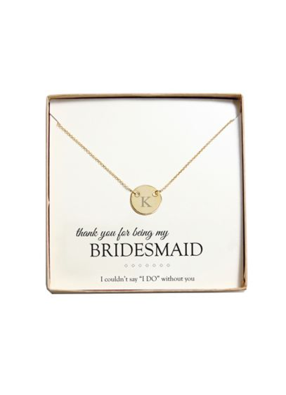 Personalized Medallion Necklace - Wedding Gifts & Decorations