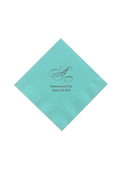 Personalized Initial Color Beverage Napkin - Wedding Gifts & Decorations