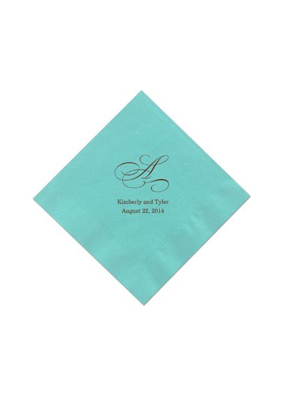 Personalized Initial Color Beverage Napkin NAPKINBM