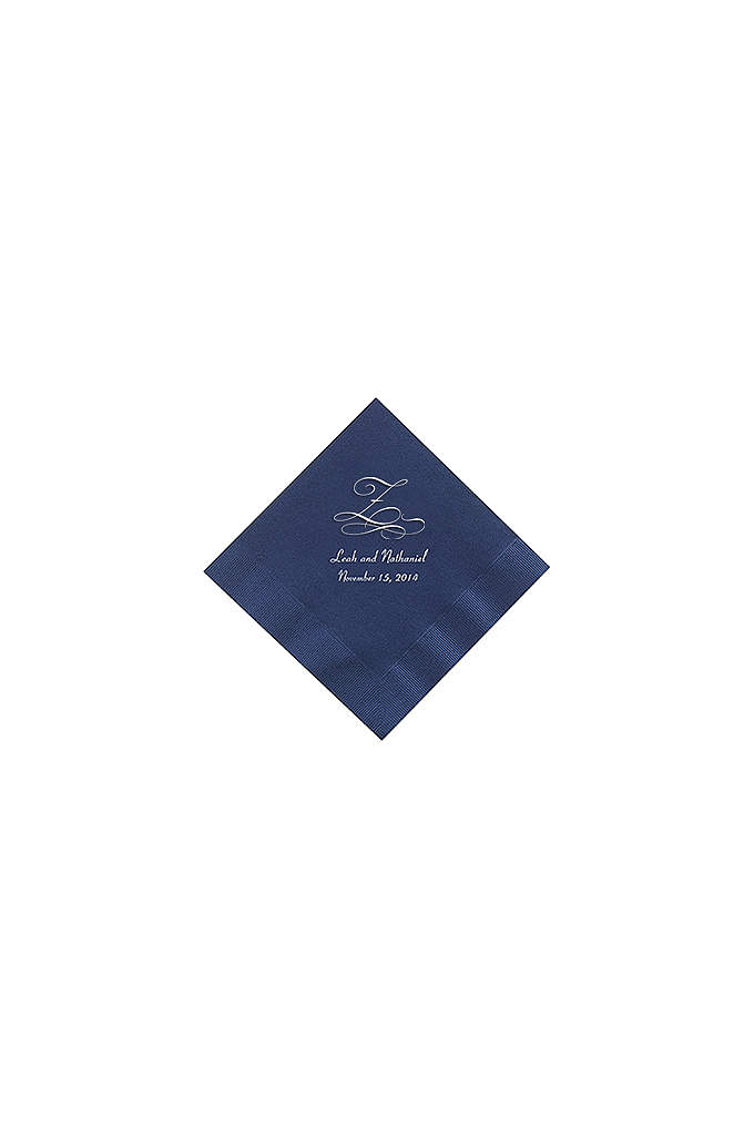 Personalized Initial Color Beverage Napkin - Add a personal touch to your event with