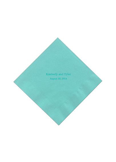 Personalized Name and Date Color Beverage Napkin NAPKINBND