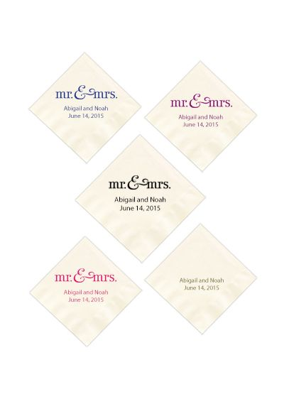 Personalized Design White or Ecru Luncheon Napkin - Wedding Gifts & Decorations