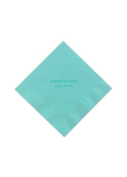 Personalized Name and Date Color Luncheon Napkin NAPKINLND