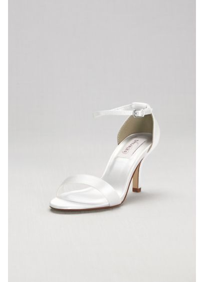 David's Bridal White (Dyeable Single Strap Sandal)