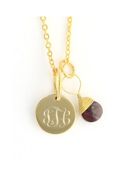 Personalized Gold-Plated Birthstone Necklace NC61G