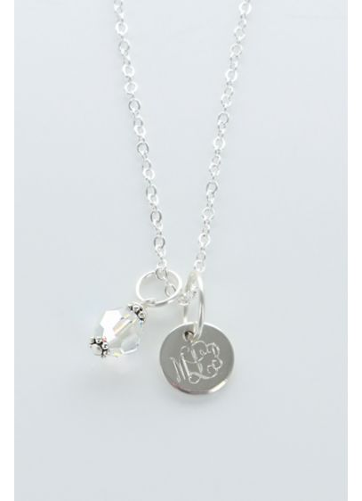 Personalized Sterling Silver Birthstone Necklace - Wedding Gifts & Decorations