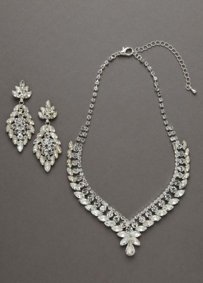 Oleg Cassini Crystal Necklace and Earring Set NCKP588