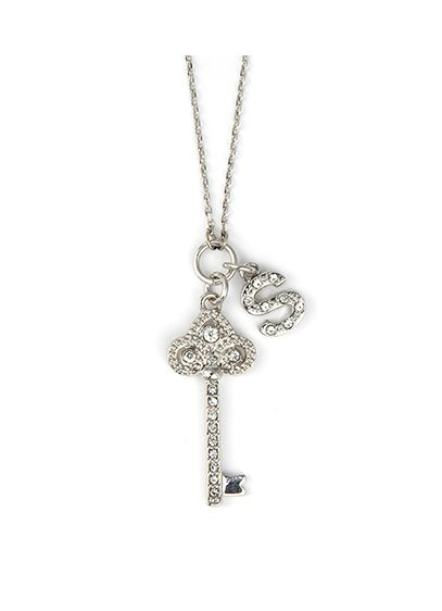 DB Excl Personalized Fleur De Lis Key Necklace - Wedding Gifts & Decorations