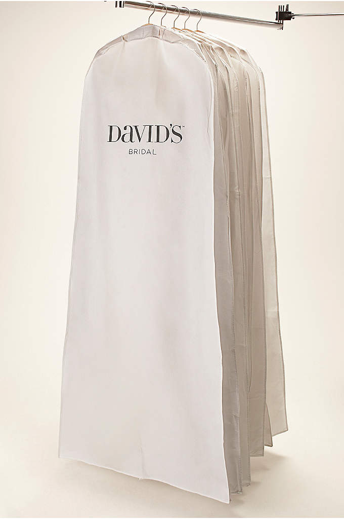 White Side Zip Garment Bag - Make sure your gown is protected with our