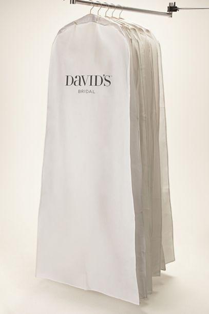 White Side Zip Garment Bag Davids Bridal