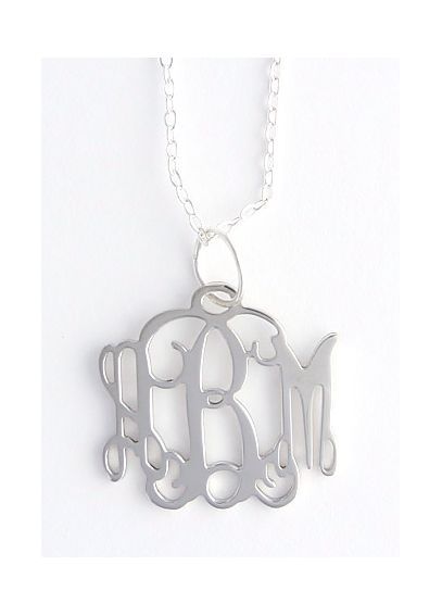 Personalized Small Pewter Filigree Necklace NP4S