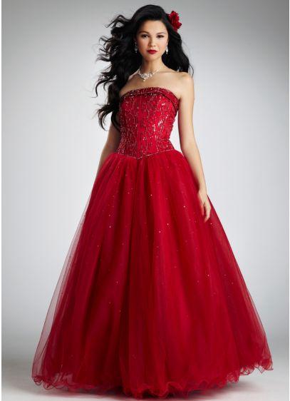 Long Ballgown Strapless Dress -