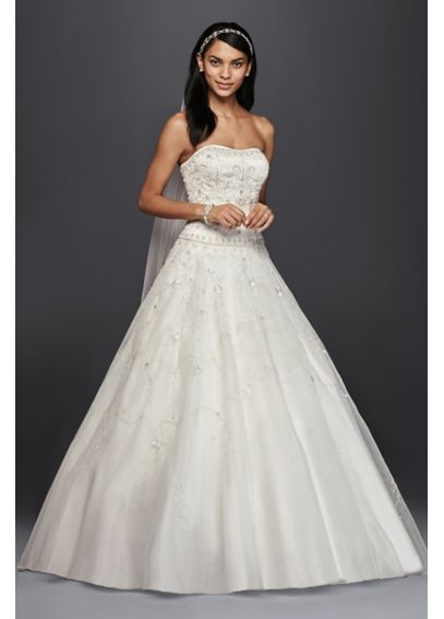 Satin and Organza Ball Gown with Beaded Embroidery NTCT258
