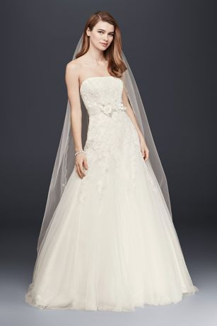 Tulle Lace Wedding Dress with All Over Beading Davids Bridal