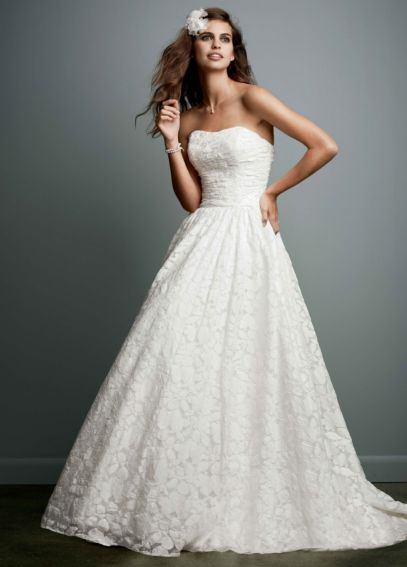 Lace Wedding Dress with Embroidered Details NTWG3512