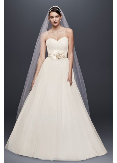 Tulle Wedding Dress with Sweetheart Neckline NTWG3802