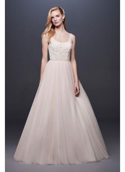 Long Ballgown Beach Wedding Dress -
