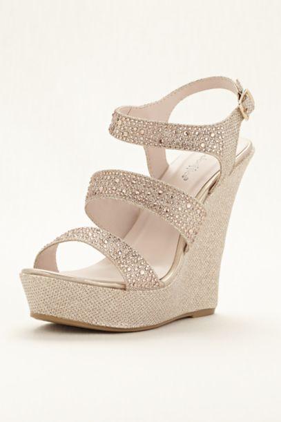 Glitter Wedge Sandal Glitter Platform Wedge Sandal