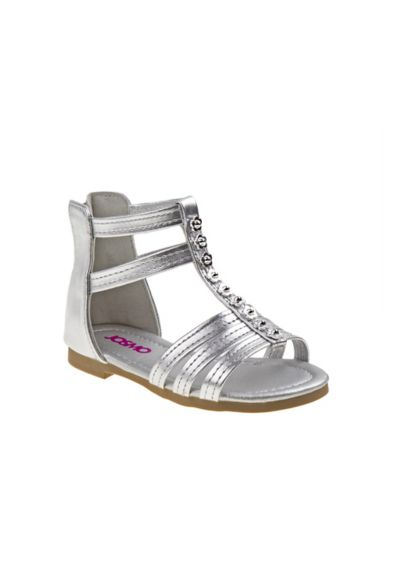 Josmo Grey (Toddlers Gladiator Sandals with Flowers)