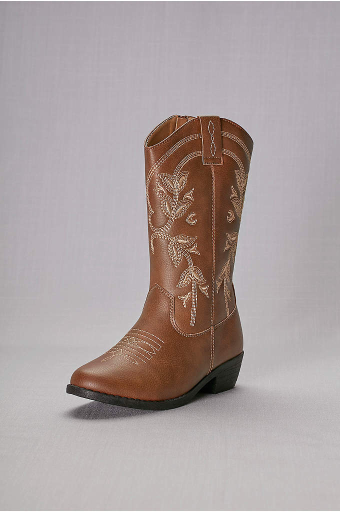 Girls Embroidered Cowboy Boots - Every two-stepping cutie needs a proper pair of