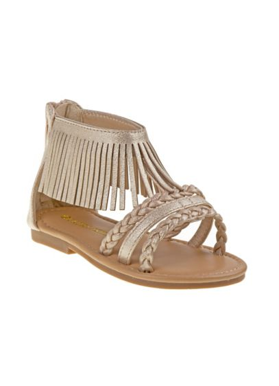 Laura Ashley Yellow (Toddlers Fringed Gladiator Sandals)