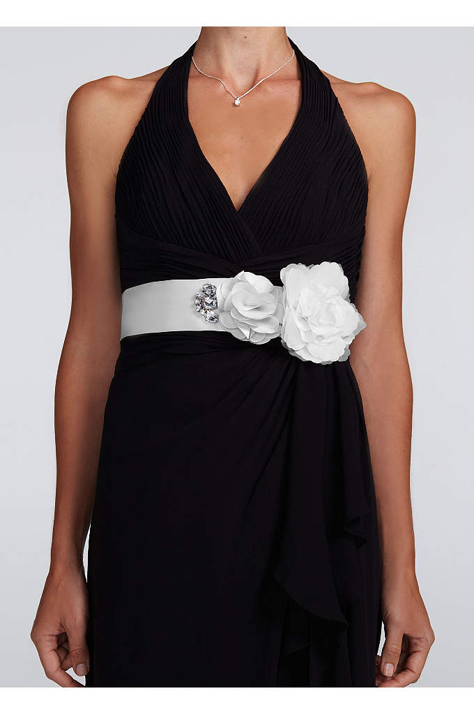 Floral Embellished Sash - Perfect accessory to add that little something special