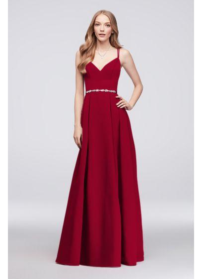 Long A-Line Simple Wedding Dress - Oleg Cassini
