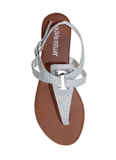 Olivia Miller Grey (Glitter Sandal with Adjustable Buckle)