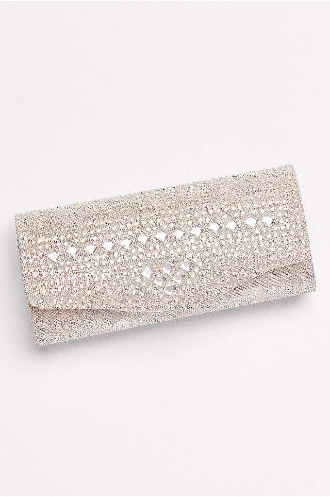 Mixed Crystal Clutch - Tiny iridescent crystals and clear gems create a