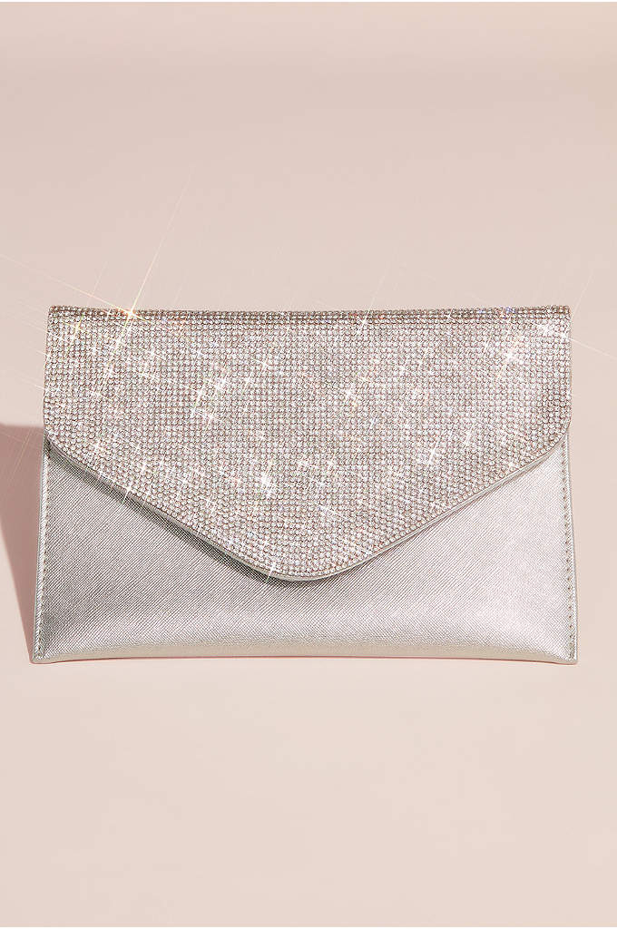 Crystal Flap Envelope Clutch - A classic carryall for every event, this soft