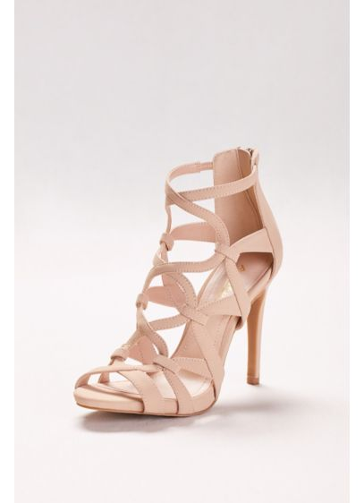 Anne Michelle Beige (High Heel Cage Sandals)